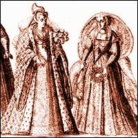Donne veneziane, incisione del sec. XVI
